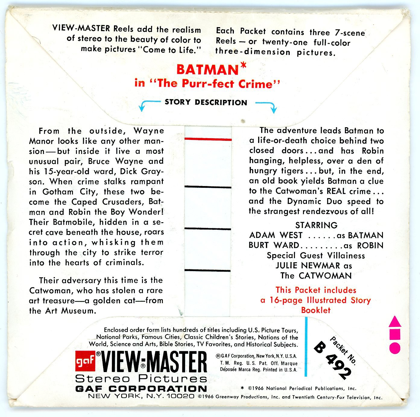 BATMAN View-Master 3 Reel Set - 21 3d Images - Adam West by View Master (Image #2)