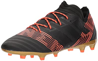 3805c9e446e7 adidas Men's Nemeziz 17.2 FG Soccer Shoe, core Black/Solar red, ...
