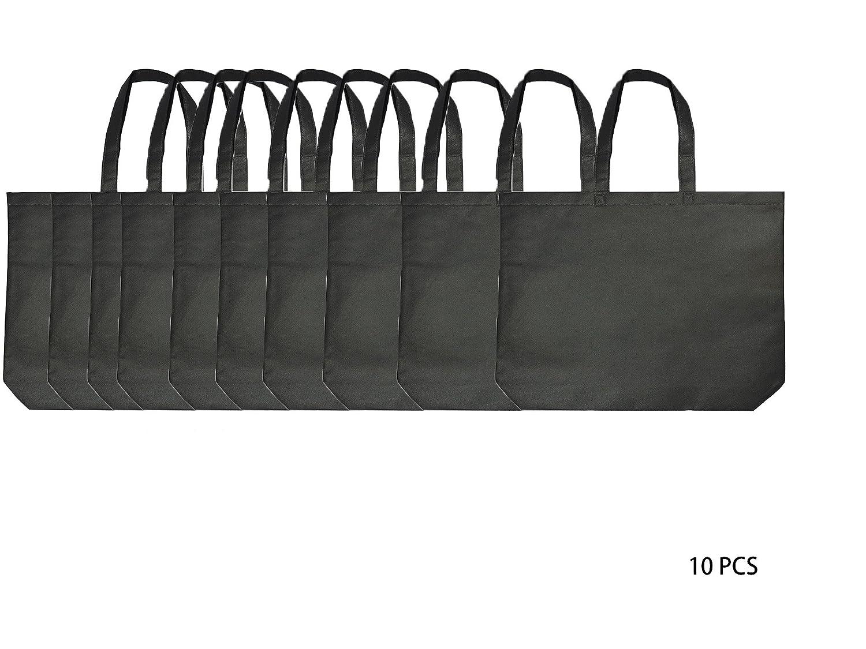 人気の春夏 再利用可能なショッピングbags|不織布PP | Eco friendly| Conventional Conventional bags| Large friendly| sqare| Large B076V47TZ7 ブラック ブラック|10, ブランド古着買取販売 DOLLAR:f3233b6e --- 4x4.lt