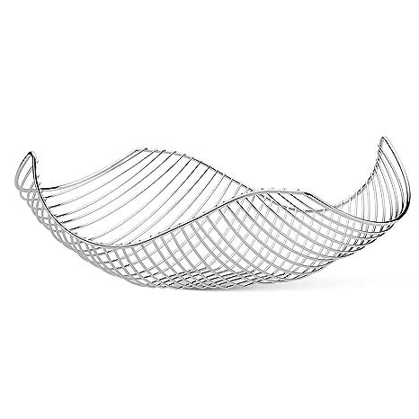Amazon Com Vistella Fruit Bowl Basket In Chrome Silver