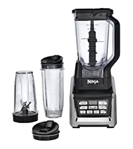 A blender base, a 72 ounce jar, a multi-serve 32 ounce cup and a regular single serve 24 ounce cup