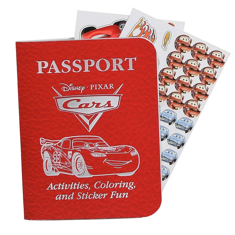 Disneys Cars 2 Passport Sticker Books Hallmark