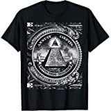 All Seeing Eye Illuminati Dollar Bill Funny T-Shirt
