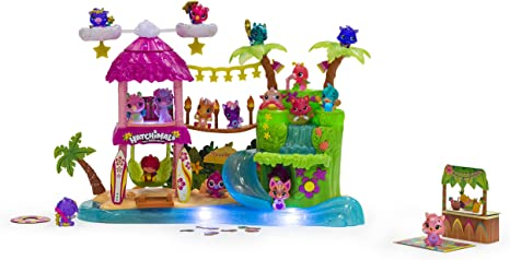 Hatchimals colleggtibles Tropical party Playset Lumières Sons exclusive saison 4