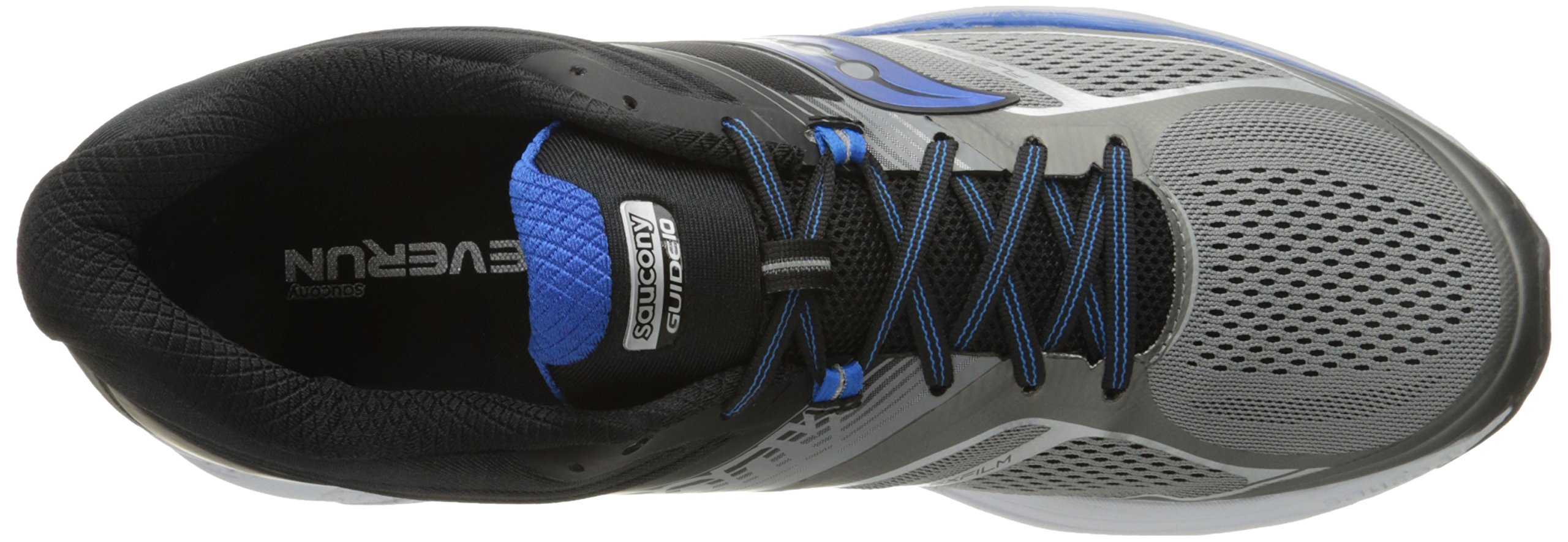 Saucony Men's Guide 10 Running Shoes, Grey Black, 14 D(M) US by Saucony (Image #9)