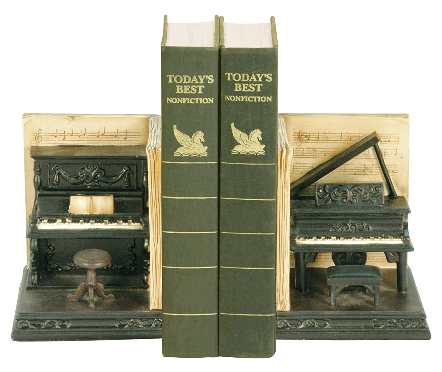 Sterling 91-3708 Composite Pair Dueling Piano Bookends, 4 by 6-Inch Sterling Industries