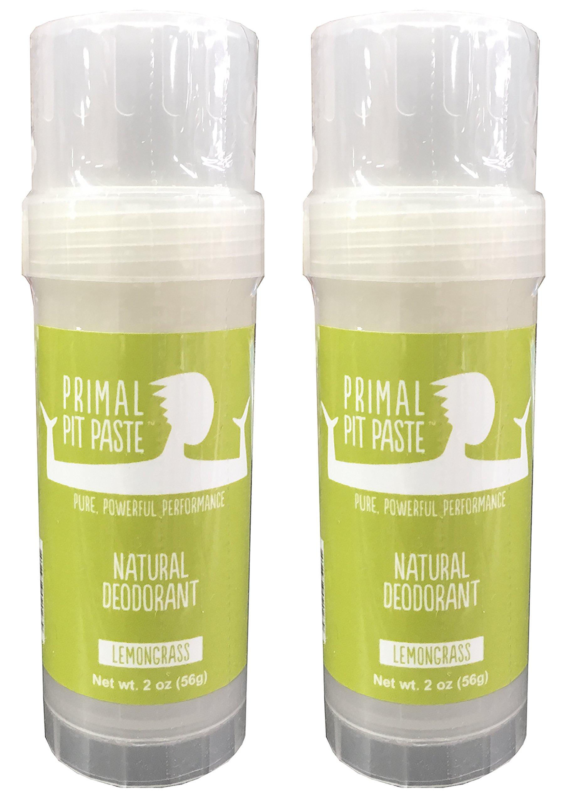 Primal Pit Paste Natural Deodorant Lemongrass Pack of 2