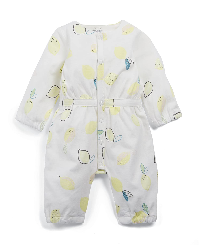 Mamas & Papas Baby Girls' Lemon Print Waisted Romper Mamas and Papas
