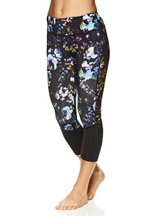 46faa9127bbce Nicole Miller Active Women's Persephone Printed Leggings - Performance  Activewear Workout Pants - Black, X