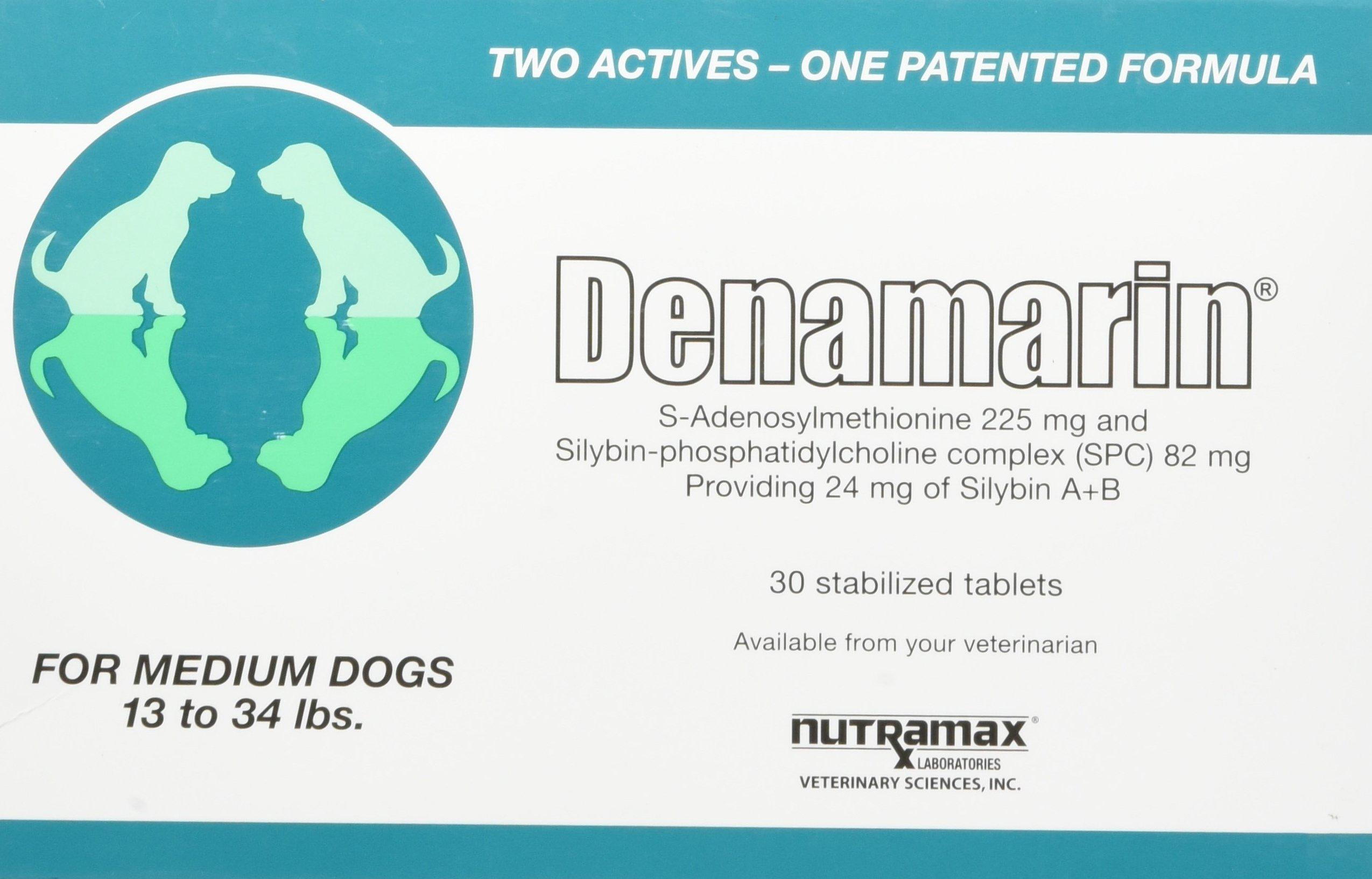 Nutramax Denamarin Tablets, Medium Dog, 30 Count by Nutramax Laboratories