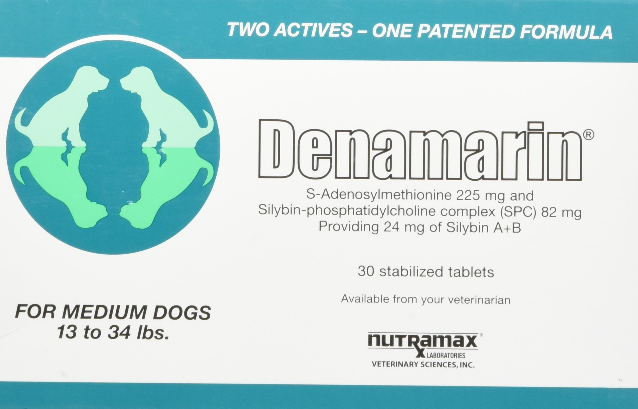 Nutramax Denamarin Tablets, Medium Dog, 30 Count