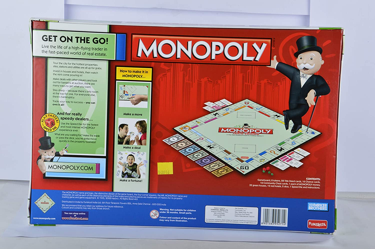 Funskool Games Monopoly India Edition, Multi Color by: Amazon.es: Juguetes y juegos