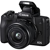 Canon EOS M50 Appareil Photo Hybride + EF-M 15-45 mm F/3.5-6.3 STM - Noir