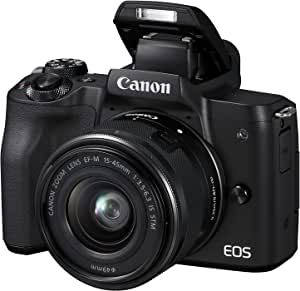 Canon Eos M50 Bk M15-45Mm Fotoğraf Makinesi, 4K, Siyah