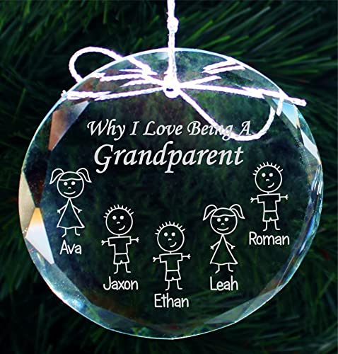 grandparents christmas gift ornament grandma gifts grandpa gifts handmade crystal holiday ornaments - Grandparent Christmas Gifts