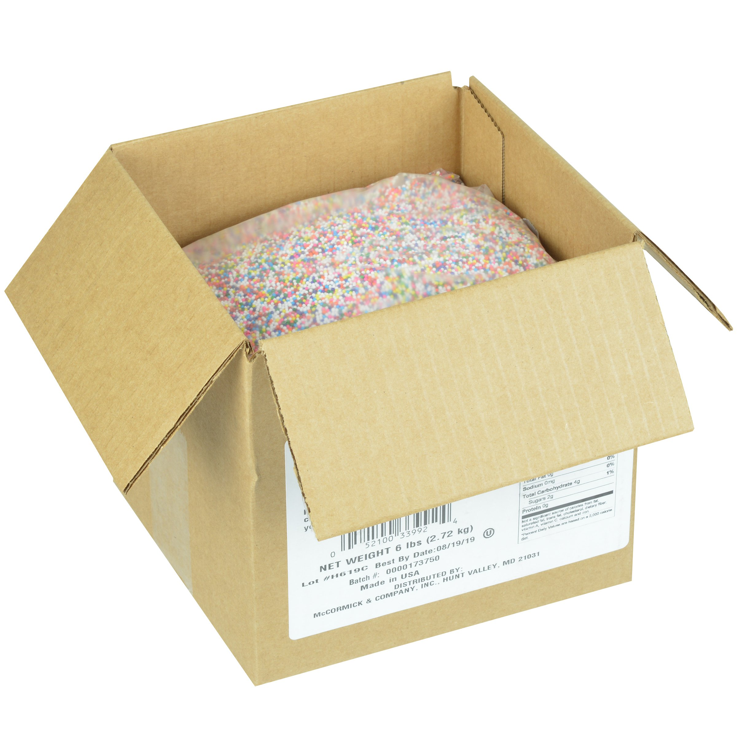 McCormick Culinary Assorted Multi-Colored Sprinkles, 6 lbs by McCormick