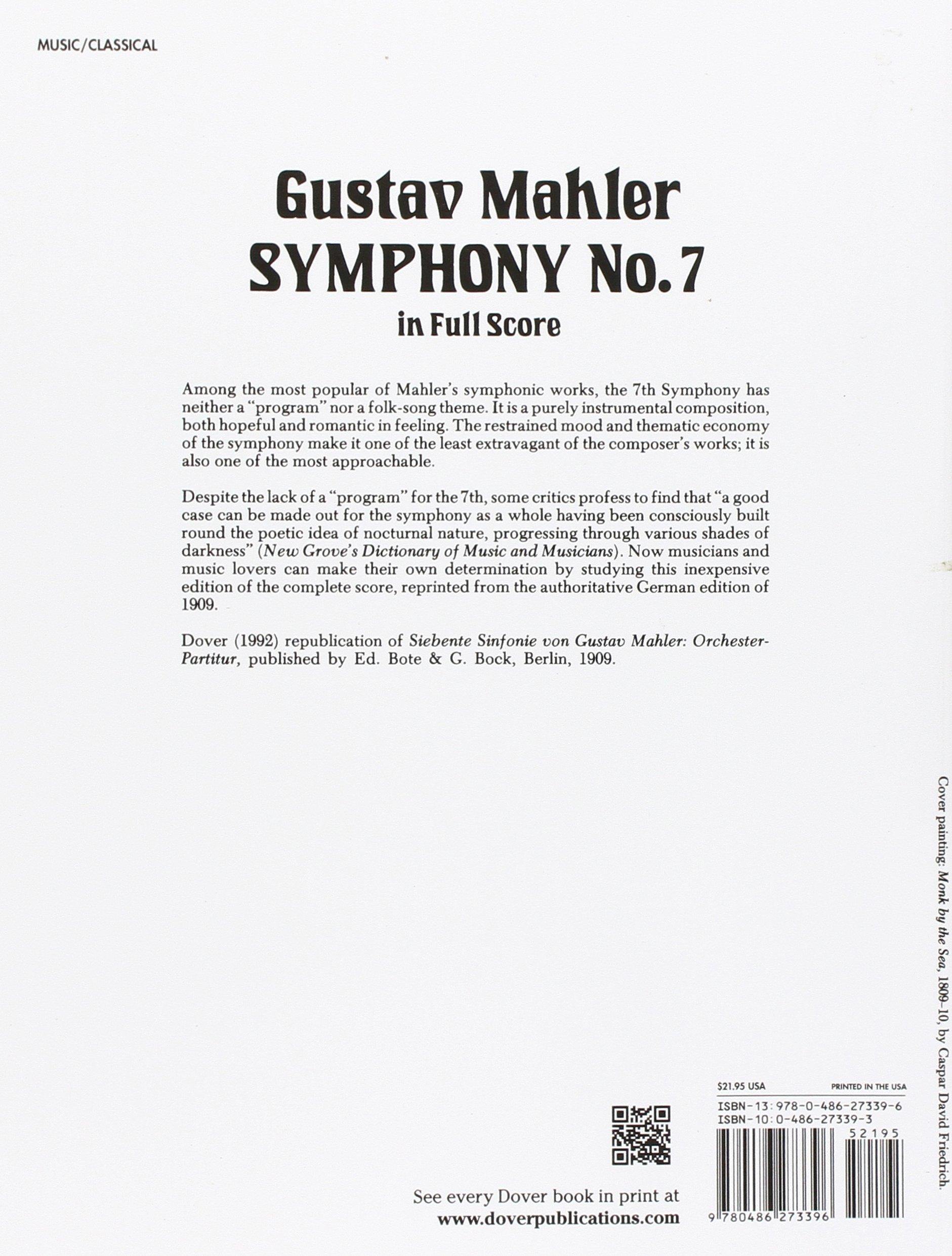 Gustav Mahler: Symphony No  7 in Full Score: Gustav Mahler