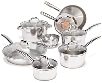 T-fal Stainless Steel with Copper Bottom Induction Cookware Set