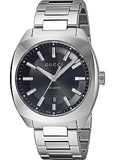 6336111f3a4 Gucci Swiss Quartz Stainless Steel Silver-Toned Dress Men s Watch (Model   YA142301)