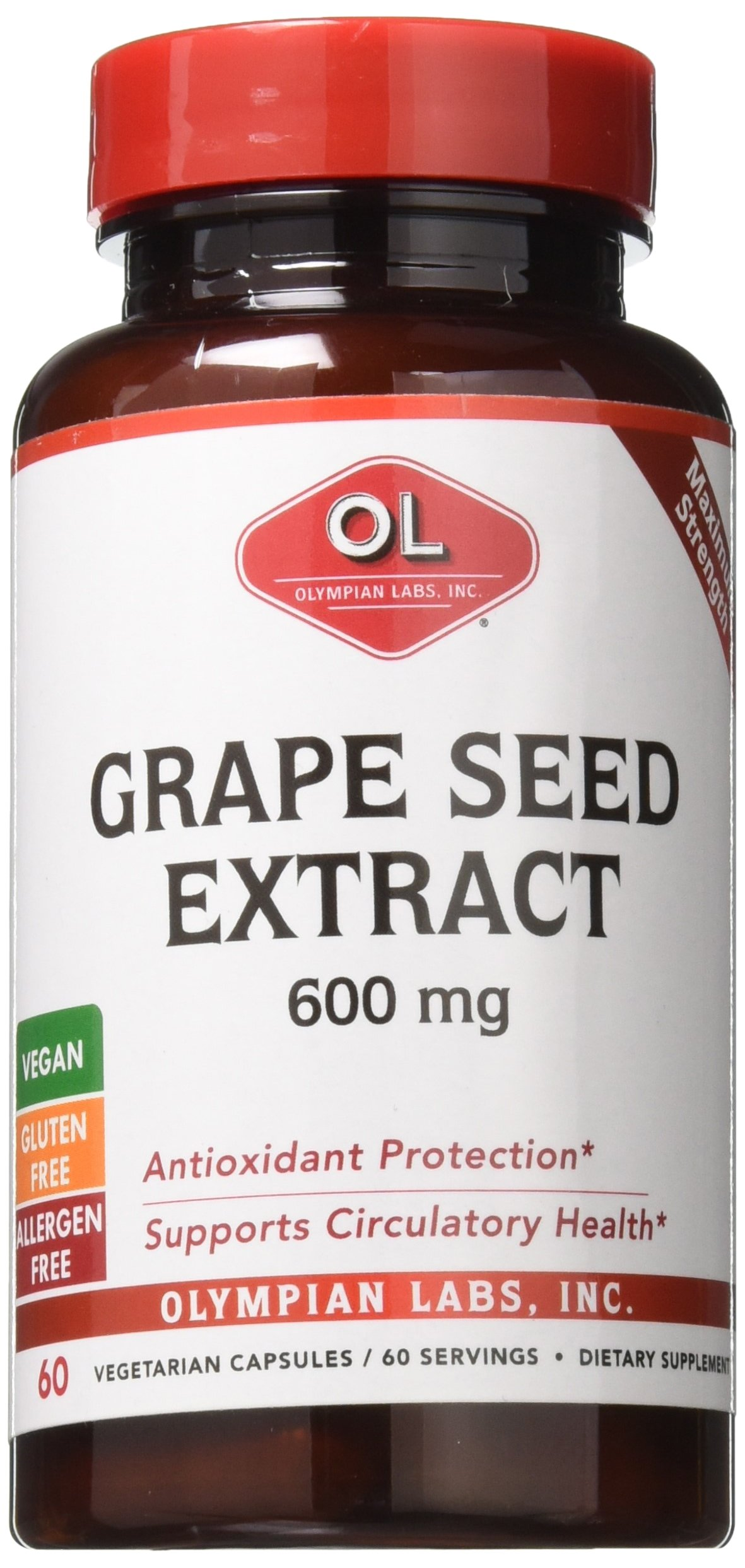 Olympian Labs Grape Seed, 60 Count (Pack of 12)