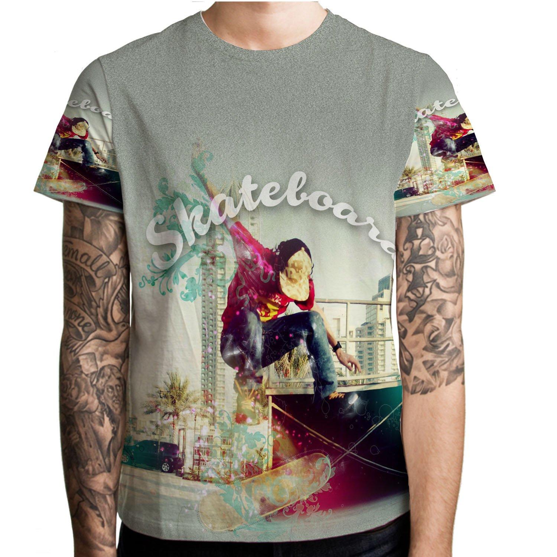 スケートボードアクションスポーツメンズクールTシャツメンズTシャツTシャツFullprint Tシャツサイズ2 l Tシャツサイズ2 x l B073ZHBNLL B073ZHBNLL, スーツケースの旅のワールド:06a84a30 --- ijpba.info