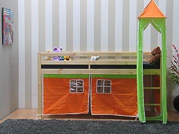 Thuka Etagenbett Mit Rutsche : Thuka kinder hochbett zubehör grün orange kinderbett bett