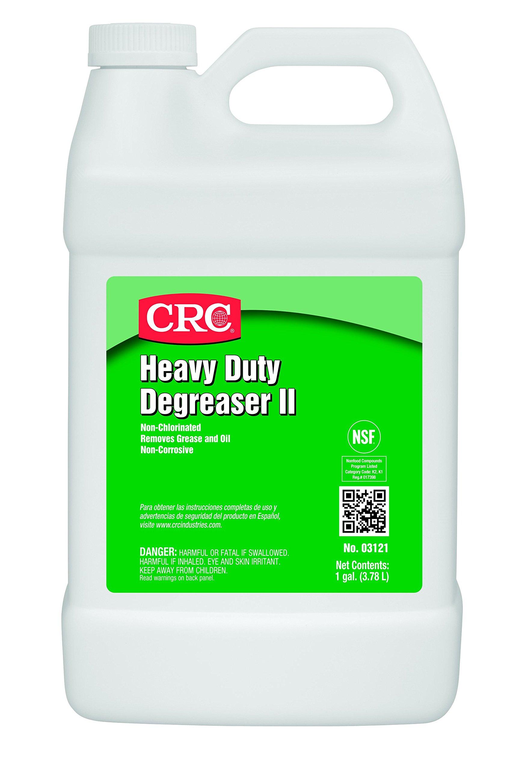CRC Heavy Duty Degreaser II, 1 Gallon Bottle, Clear/White