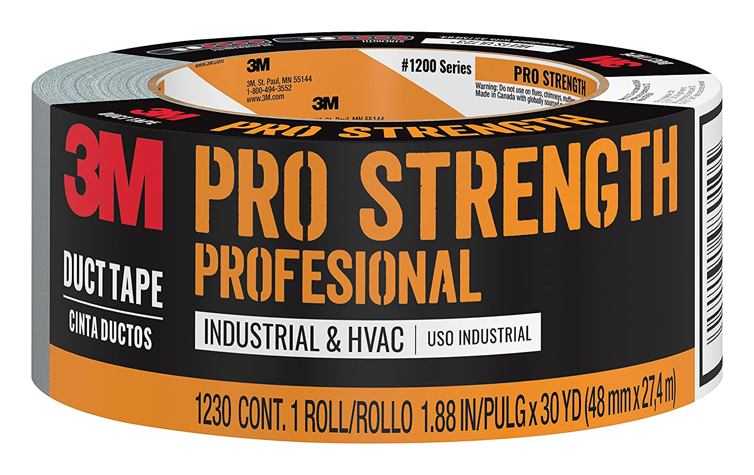 3MPro Strength Duct Tape, 1230-C, 1.88 Inches by 30 Yards