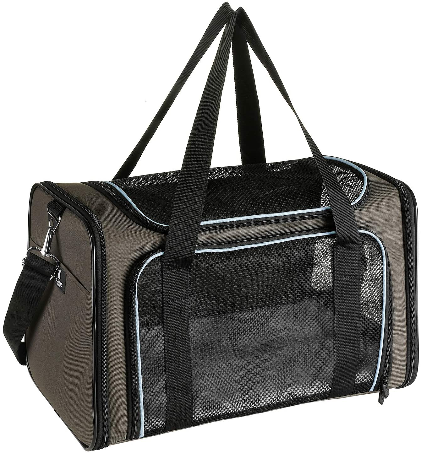 X-ZONE PET Airline Approved Pet Carriers, Soft Sided Collapsible Pet Travel Carrier for Medium Puppy and Cats : Pet Supplies