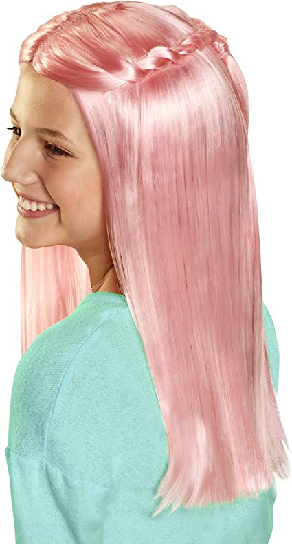 Amazon Com Cgh Cute Girls Hairstyles Wig Pink Straight Hair Style Wear Wig Toys Games