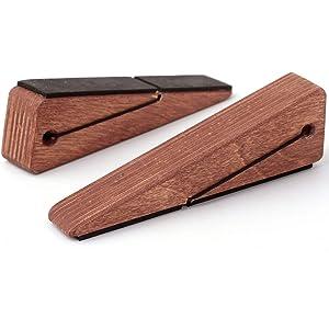 Door Stopper Decorative Doorstop Wedge- Pack of 1, Multi Surface Wooden Door Stop with