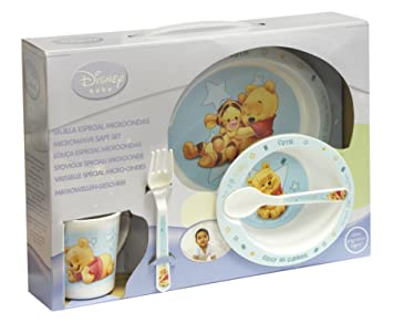 Spel 004626 Babiesu0027 Crockery Set 5 Pieces Winnie the Pooh Theme Blue  sc 1 st  Amazon UK & Spel 004626 Babiesu0027 Crockery Set 5 Pieces Winnie the Pooh Theme Blue ...