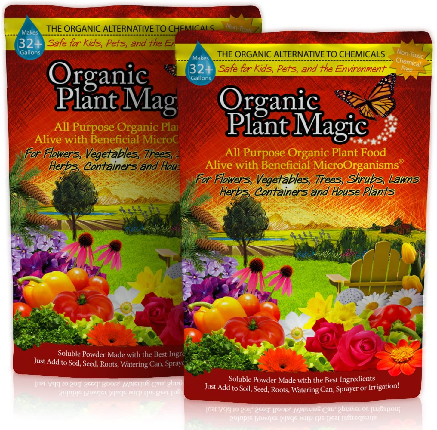 Plant Magic Plant Food 100% Organic Fertilizer - Easy to Use All Purpose for Indoor Houseplants, Outdoor Flowers, Tomatoes and All Vegetables and Trees (Also Known as Instant Compost Tea) 1 lb