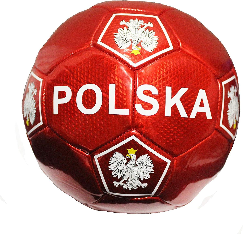 POLSKA Football Soccer Ball All Weather Official Size 5