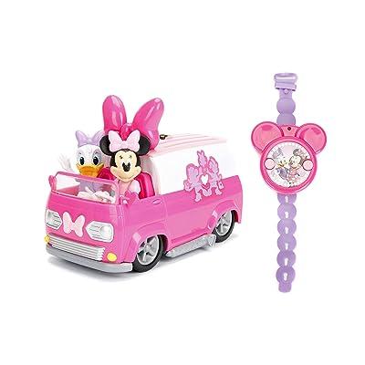 Jada Toys Disney Junior Minnie Mouse Happy Helper's Van RC/Radio Control Toy Vehicle, Pink/White: Toys & Games