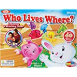 Ideal Who Lives Where Wooden Memory and Matching Game