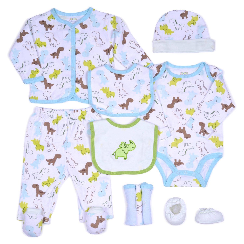 ade22dda80 JOON 11-Piece New Born Baby Boys Essentials Gift Set, Blue-Green, 0-6 Month