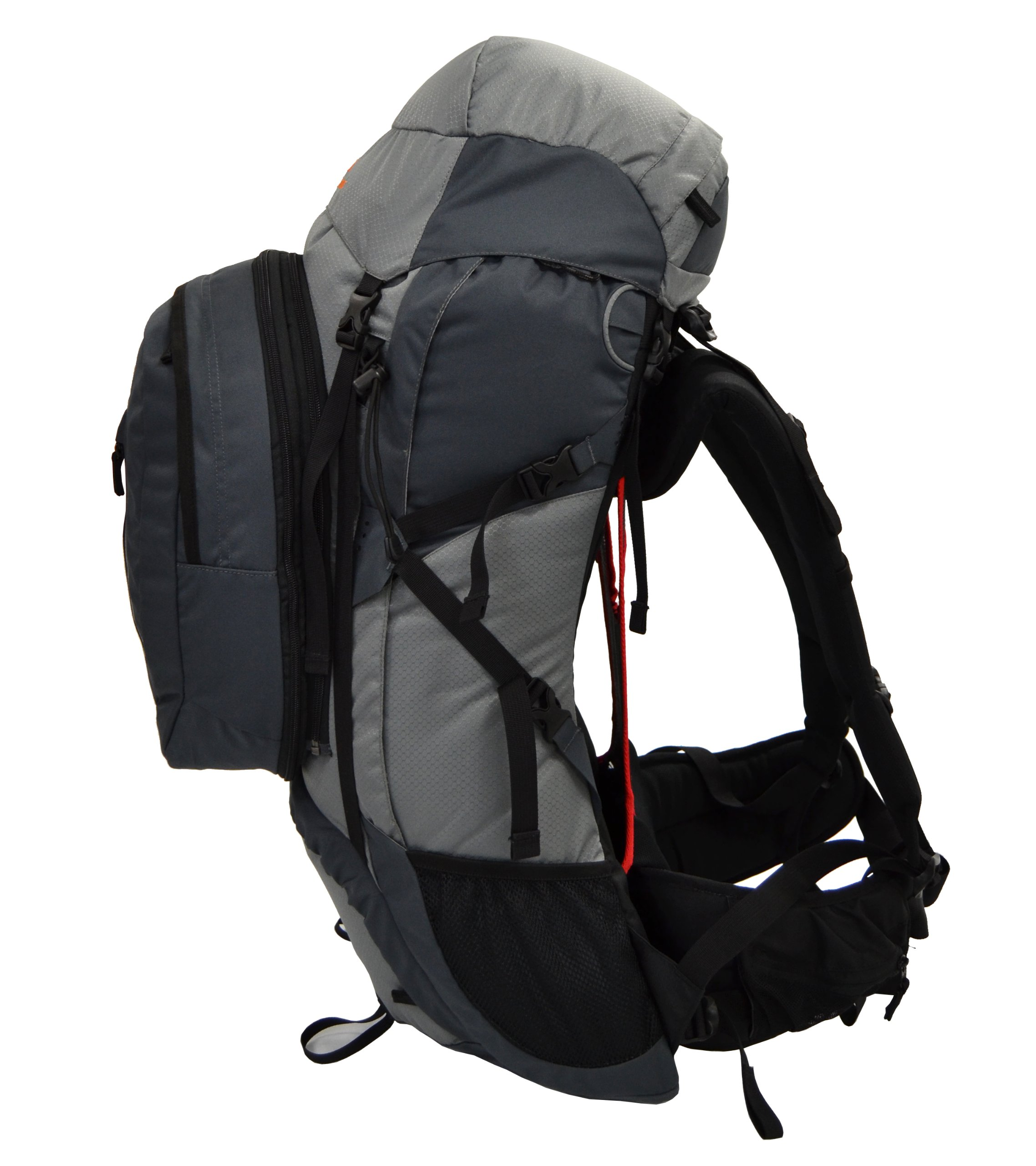 Guerrilla Packs Roundhouse Internal Frame Backpack, Middle Grey/Dark Grey by Guerrilla Packs (Image #2)