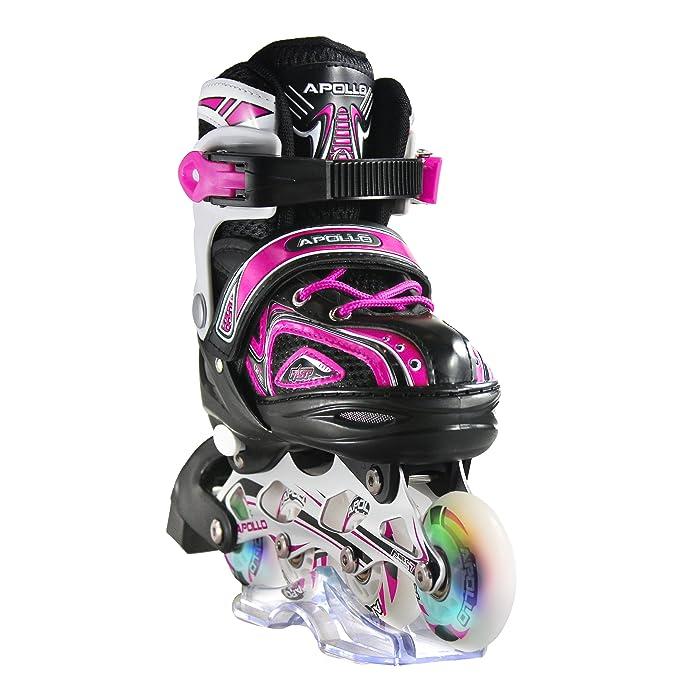Apollo Super Blades X Pro, größenverstellbar von 31 bis 42, LED Inline-Skates, Rollerblades für Kinder, ideal für Anfänger, k