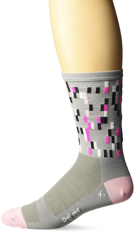 Grey//Pink//Black DEFEET AIRTPIXGRPN101 Aireator Barnstormer Socks Small