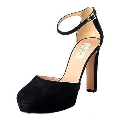 2274b149023d7 Image Unavailable. Image not available for. Color  Valentino Garavani  Women s Leather High Heel Platform Pumps Shoes ...