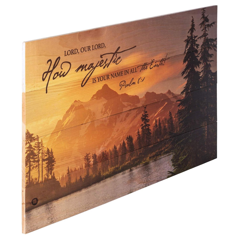Amazon.com: Lord, cómo Majestic es su nombre Mountain Lake ...