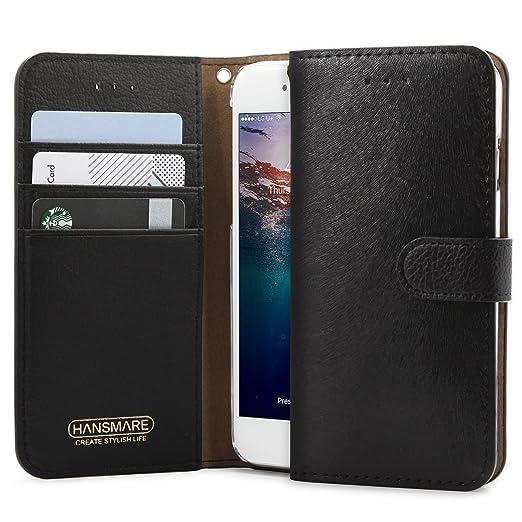 Amazon.com: iPhone 6S caso, hansmare [Calf Flip billetera de ...