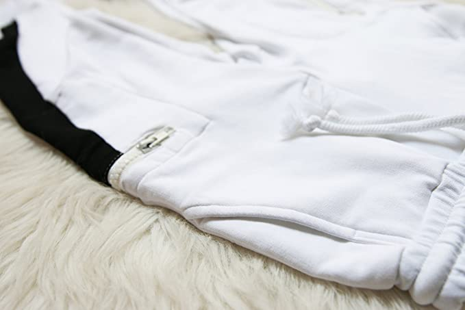 Blissfully Mine CHOCOKIDS White with Black Detail Boys Sweatpants BSP0104
