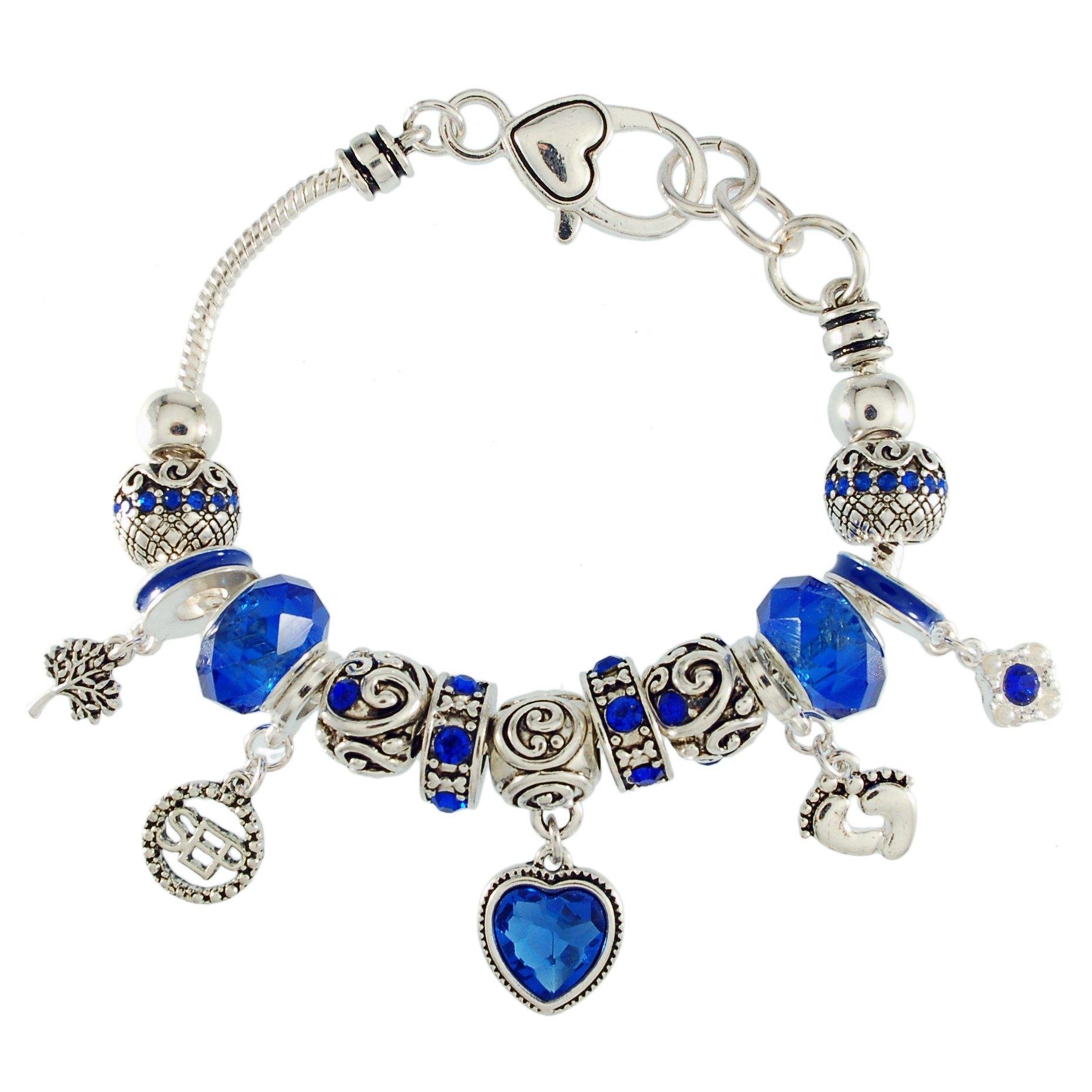 Landau Ambrosia September Birthstone Charm Bracelet