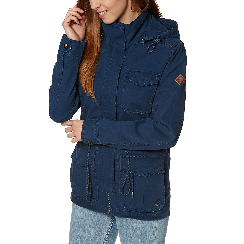 O 'Neill Military Streetwear Jacket, Mujer, Military Jacket, Atlantic Blue, Extra-Small