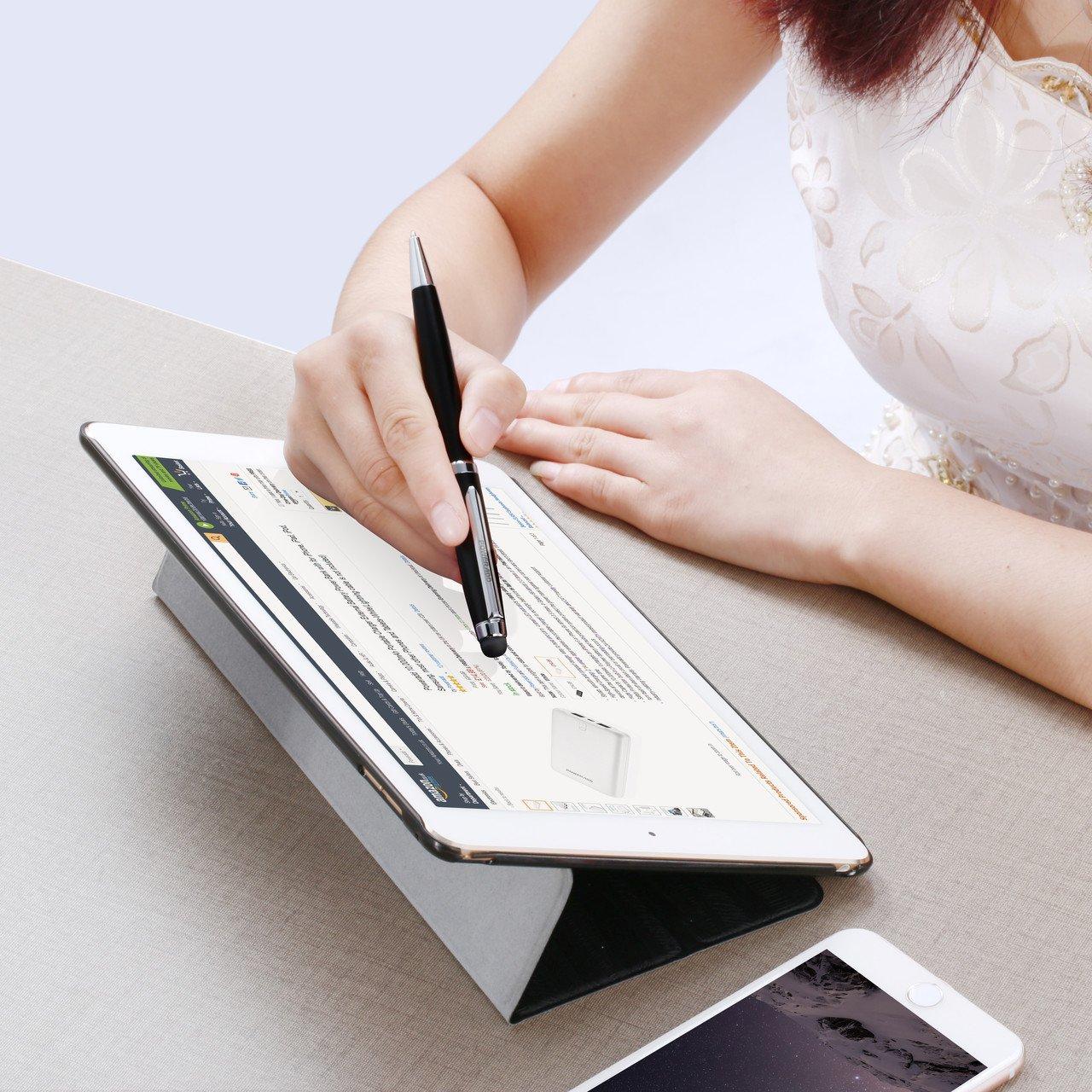 Poweradd 2 en 1 stylus stylet stylo écran tactile + stylo à bille bic haute tactilité stylus pour iphone6, iphone 7, ipad, ipad mini et pour android smartphone