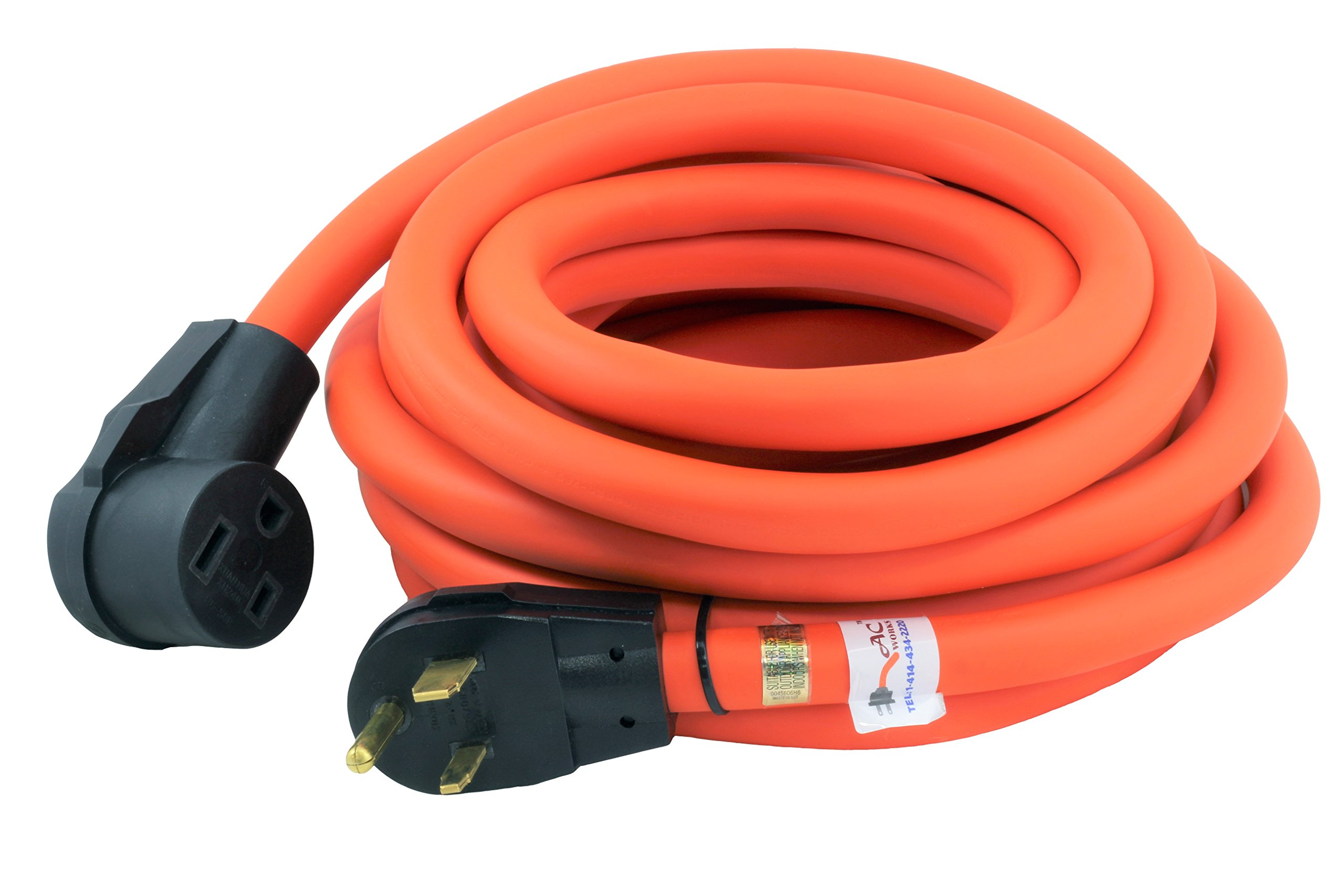 AC WORKS STW 8/3 6-50 Super Heavy Duty Outdoor Welder Extension Cord (25FT)