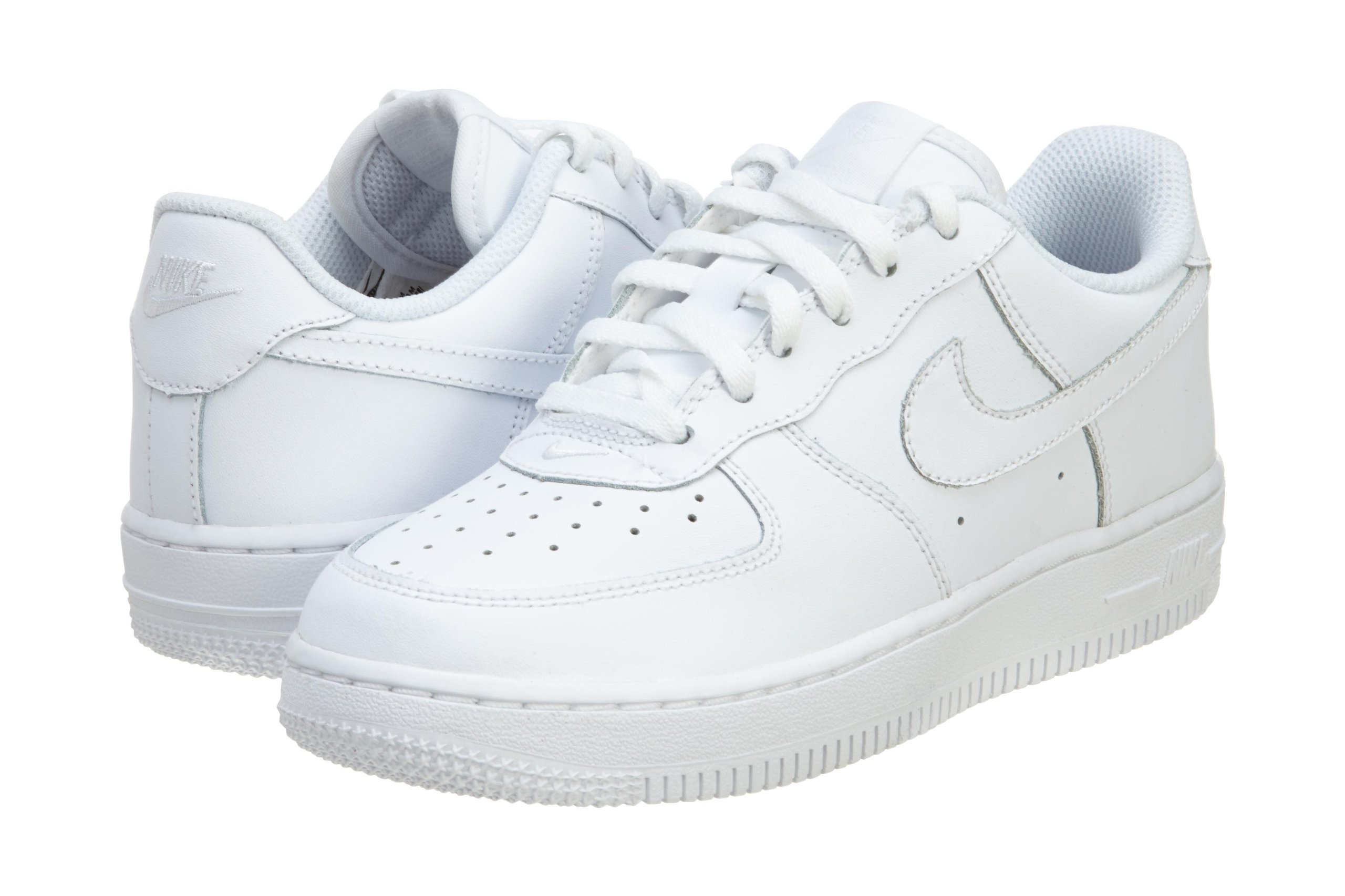 Nike Kid's Air Force 1 Low Preschool Basketball Shoes, White/White-White 13.5C