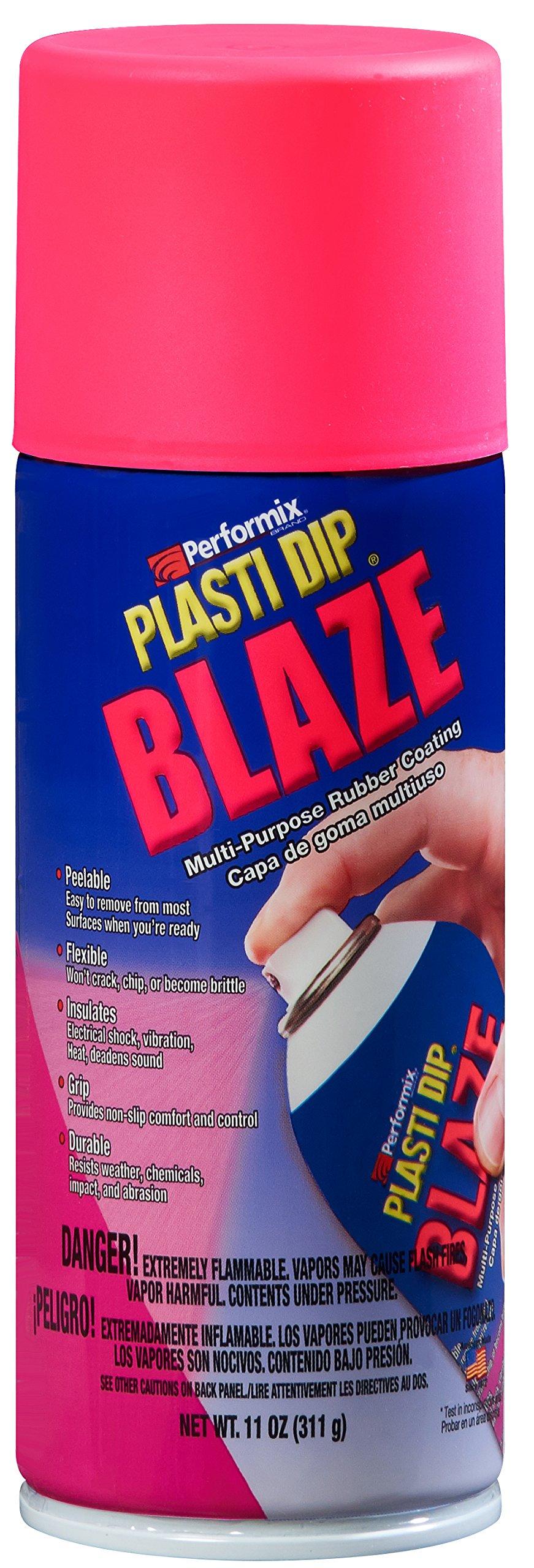 Plasti Dip Performix (11223-6-6PK) Blaze Pink Spray - 11 oz. Aerosol, (Pack of 6)